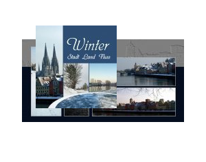 Winter : Stadt - Land - Fluss