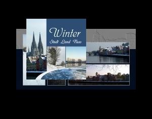 Winter : Stadt - Land - Fluss
